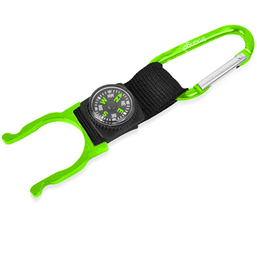 Bottle Holder Carabiner With Compass