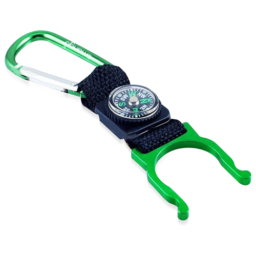 Bottle Holder Carabiner With Compass Image 2