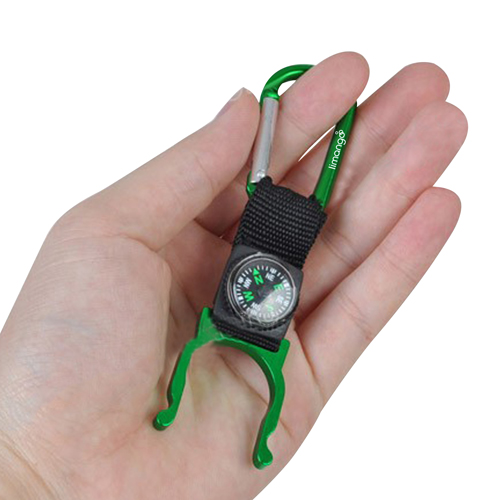 Bottle Holder Carabiner With Compass Image 3