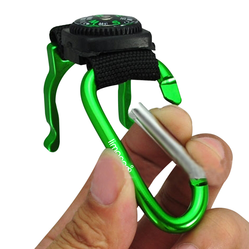 Bottle Holder Carabiner With Compass Image 4