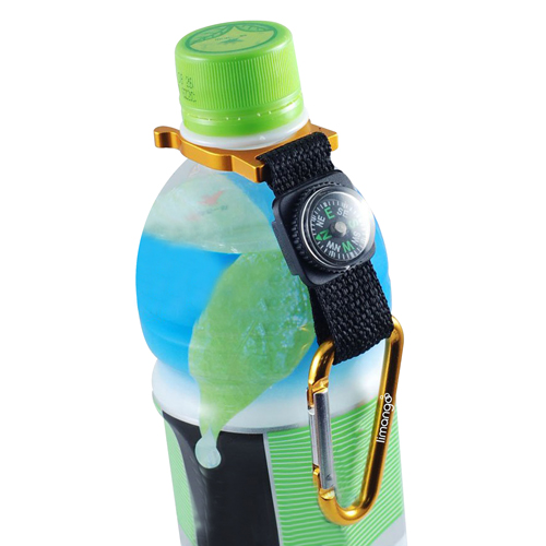 Bottle Holder Carabiner With Compass Image 5
