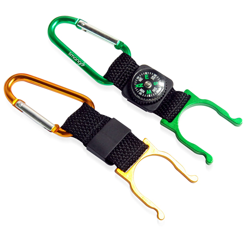 Bottle Holder Carabiner With Compass Image 8