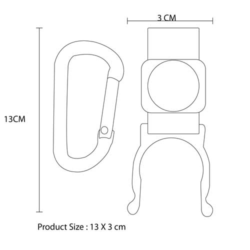 Bottle Holder Carabiner With Compass Imprint Image