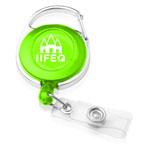 Carabiner Style Transparent Badge Reel