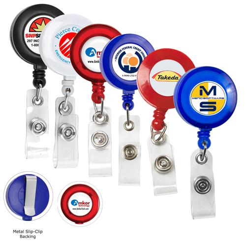 Round Retractable ID Card Badges Holder