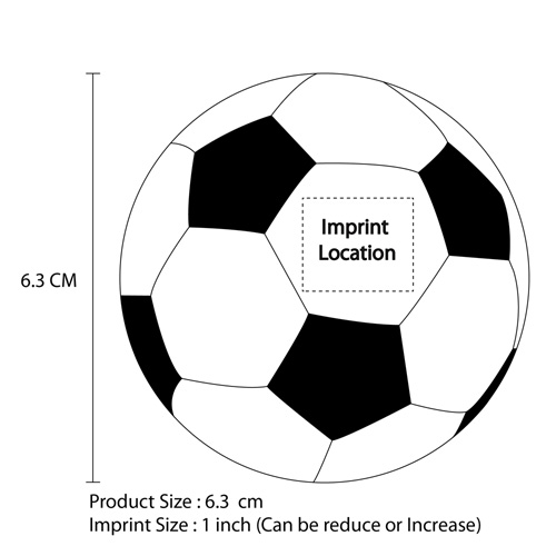 Squeeze Soccer Ball Stress Reliever Imprint Image