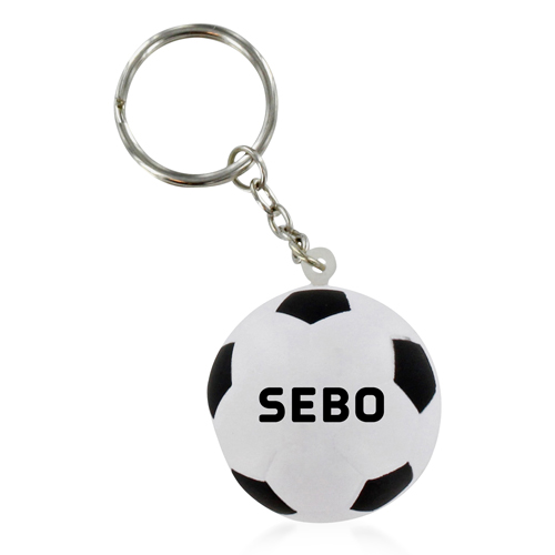 Football Shaped Stress Ball Keychain Image 1
