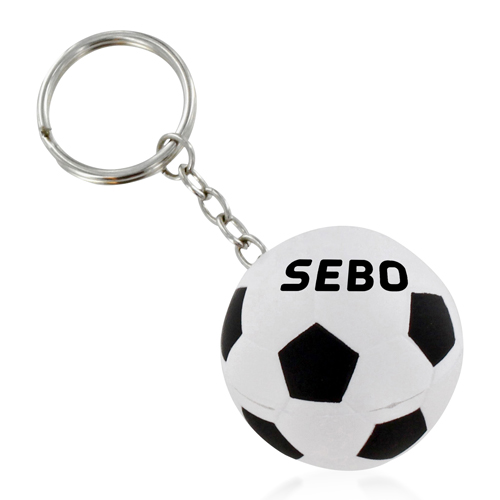 Football Shaped Stress Ball Keychain Image 2