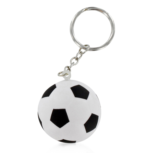 Football Shaped Stress Ball Keychain