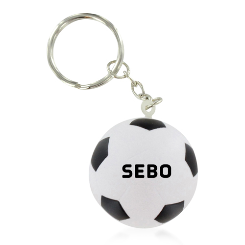 Football Shaped Stress Ball Keychain Image 4