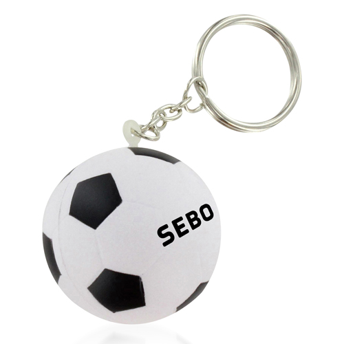 Football Shaped Stress Ball Keychain Image 5
