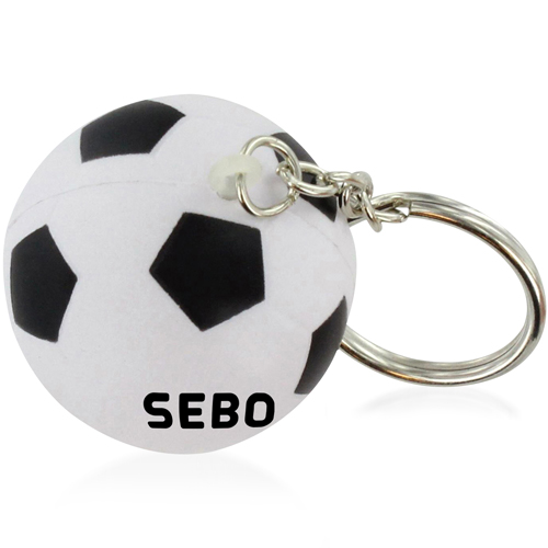 Football Shaped Stress Ball Keychain Image 6