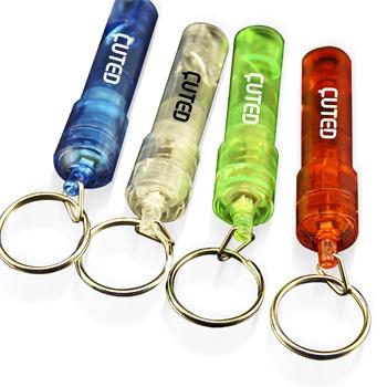 LED Flashing Whistle Keychain