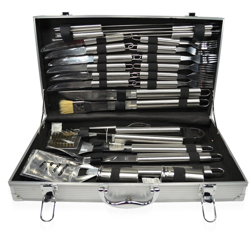 24-Piece Barbecue Set With Aluminum Case