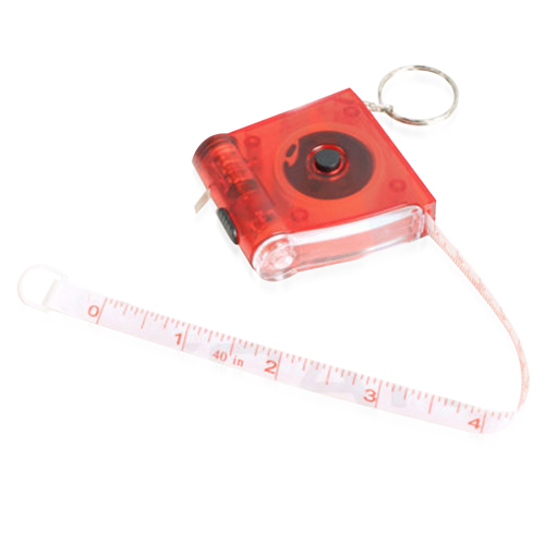 Measure Tape LED Flashlight Keychain
