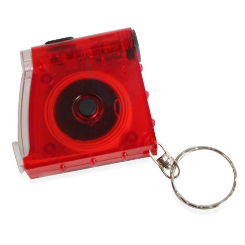 Measure Tape LED Flashlight Keychain