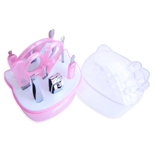 Nine Piece Kitty Manicure Set