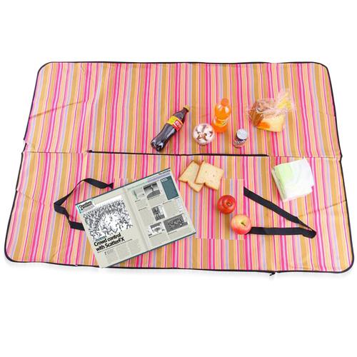 Elegant Satchel-Style Picnic Mat Tote Bag Image 1
