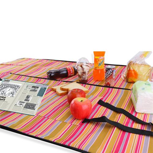 Elegant Satchel-Style Picnic Mat Tote Bag Image 4
