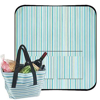 Elegant Satchel-Style Picnic Mat Tote Bag