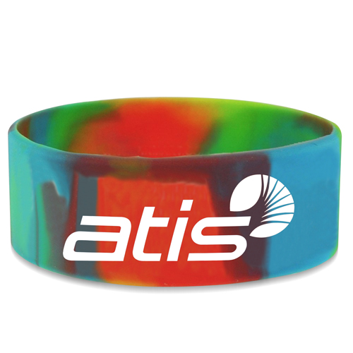 Wide Silicone Wrist Band Image 1