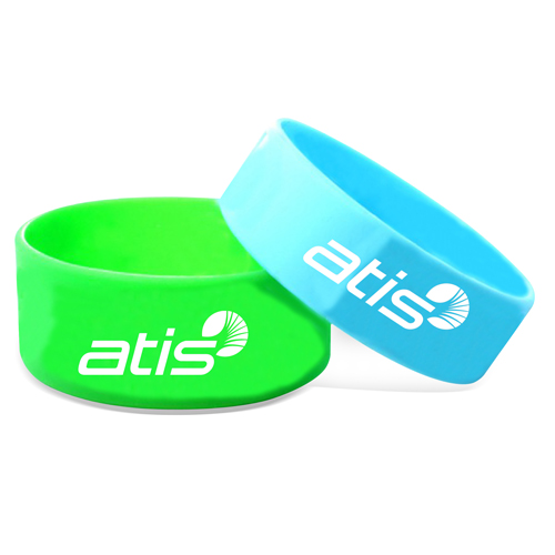 Wide Silicone Wrist Band Image 2