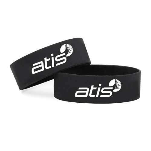 Wide Silicone Wrist Band Image 3