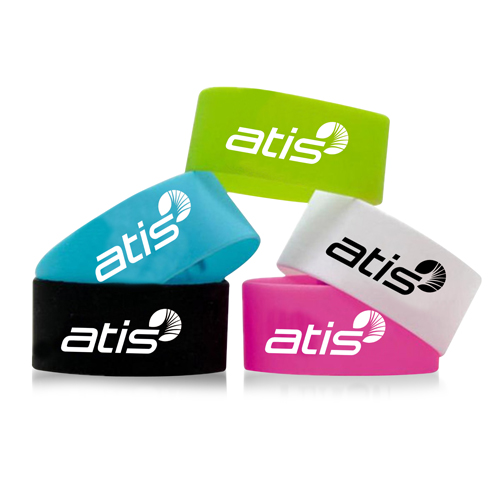 Wide Silicone Wrist Band Image 4