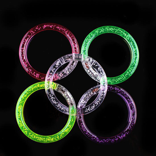 Light-Up Acrylic Flashing Bracelet