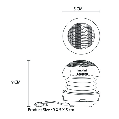 Portable Hamburger Travel Speaker Imprint Image