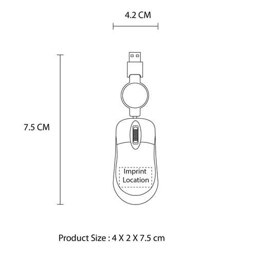 Mini Retractable USB Optical Mouse