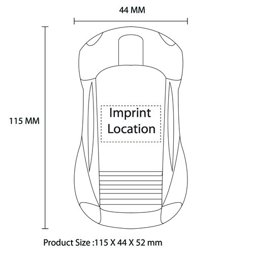 Car Shaped 2.4Ghz Optical Mouse