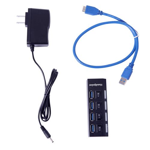 4 Port USB 2.0 Switchable Hub