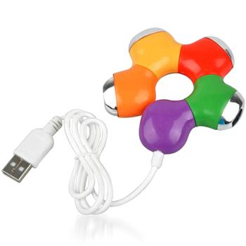 Flower Puzzle Shaped 4 Port USB Hub