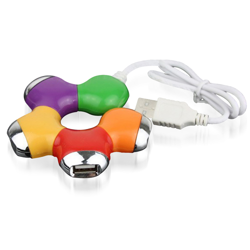 Flower Puzzle Shaped 4 Port USB Hub