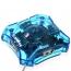 Transparent 4-Ports USB Splitter Hub