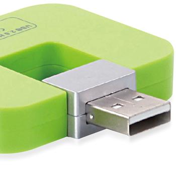 Mini Simple 4 Port USB 2.0 Hub