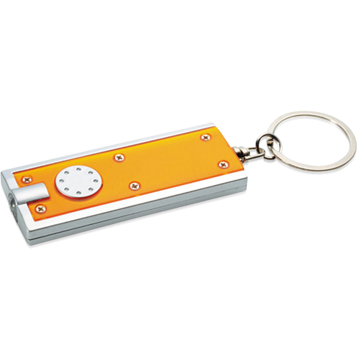 Rectangular Keychain With Led Light