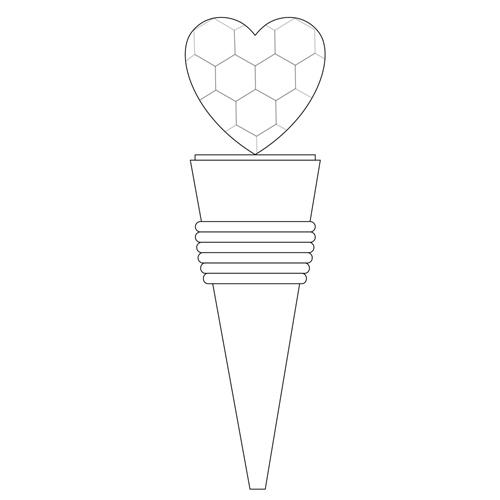 Crystal Heart Wine Bottle Stopper