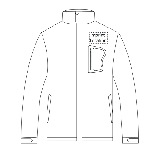 North Face Softshell Jacket Imprint Image