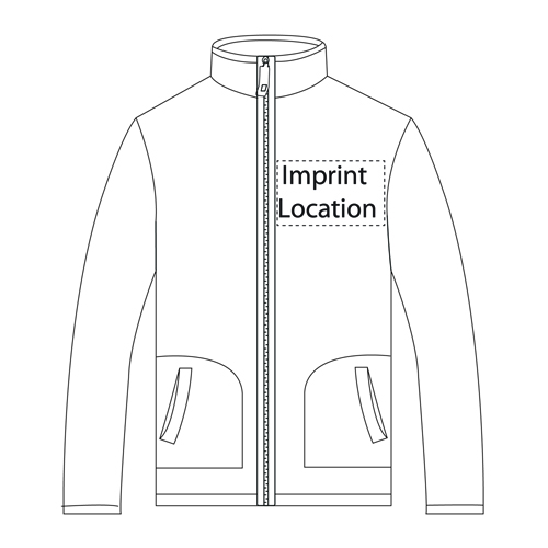 Two-Color Fleece Jacket Imprint Image