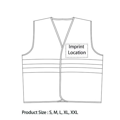X Safety Mesh Back Vest Imprint Image