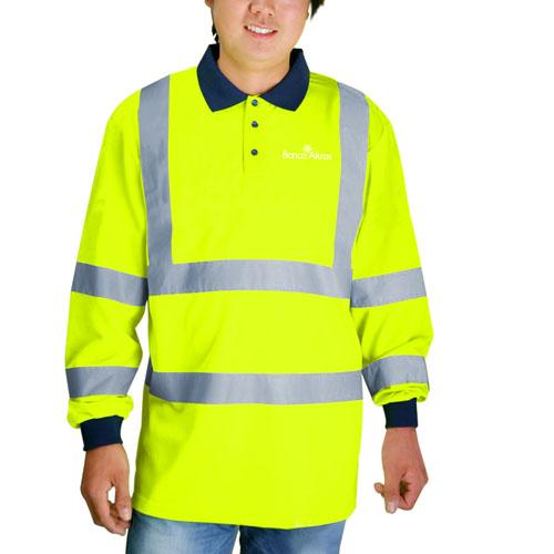 Reflective Full Sleeves Polo T-Shirt