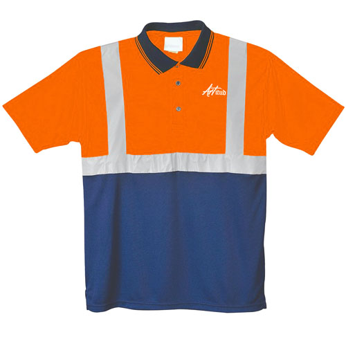 Fluorescent Reflective Polo Shirt