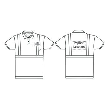 Fluorescent Reflective Polo Shirt