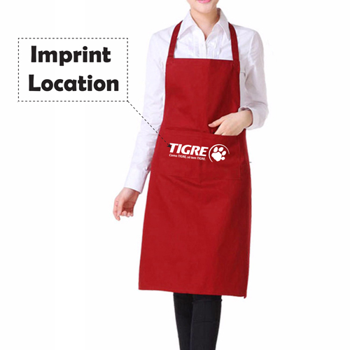 Polyester Apron With 2 Pocket Imprint Image