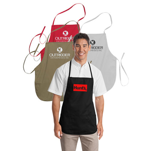 Polyester Apron With Center Pocket Image 2
