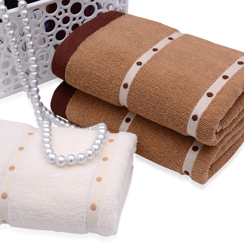 Dotted Ribbon Face Towel