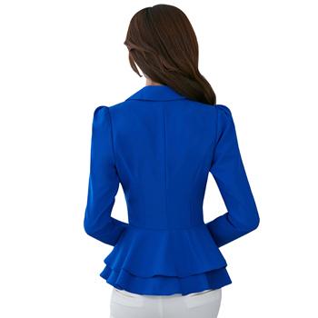 Ruffle Slim Women Suit