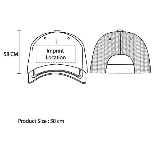 Mesh Camo Snapback Cap Imprint Image